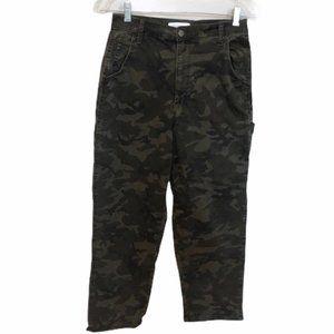 TINSEL Camouflage Wide Leg Crop Carpenter Pants 28